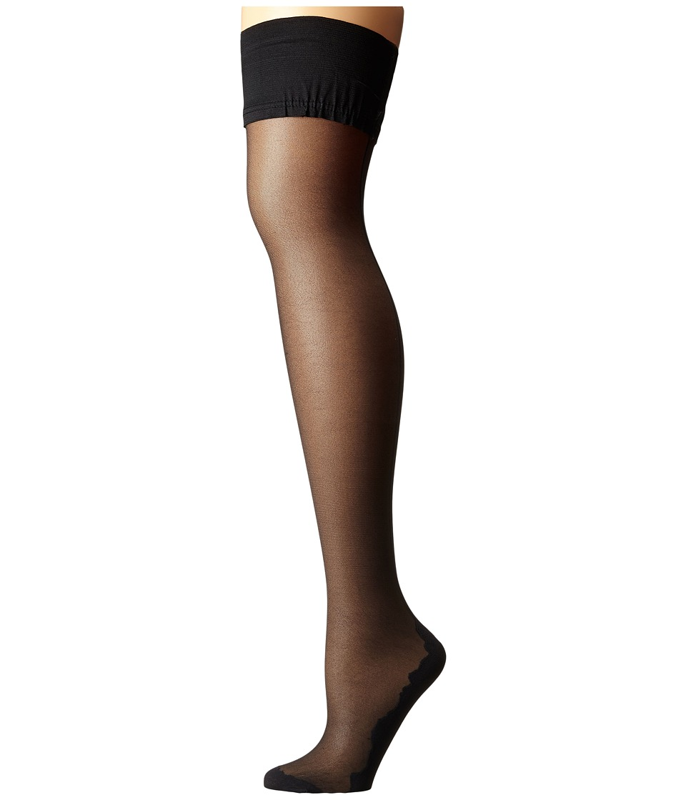 Pretty Polly - Flirty Backseam Hold Ups (Black/Black) Hose
