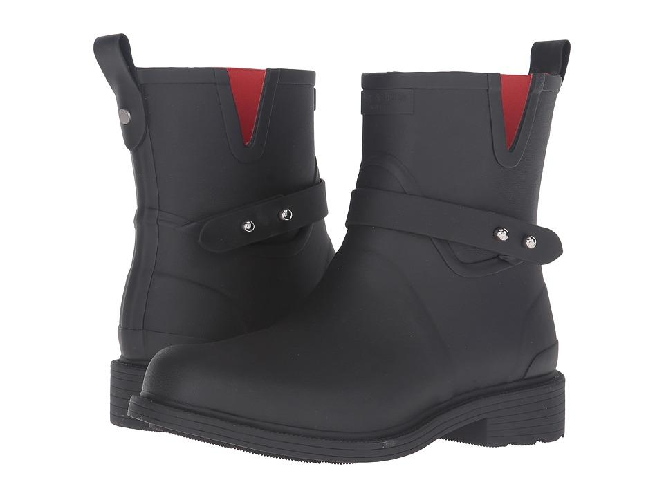 rag & bone Moto Rain Boot (Black) Women