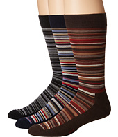 HUE - Multistripe Sock with Half Cushion 3-Pack