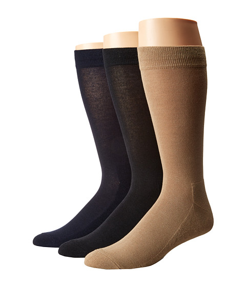HUE Solid Sock with Half Cushion 3-Pack - Black/Navy Pack