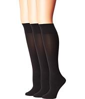 HUE - Simply Skinny Knee Socks 3-Pack