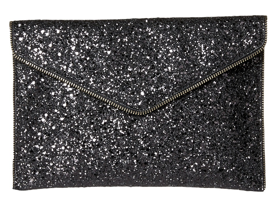 Rebecca Minkoff - Glitter Leo Clutch (Black Multi) Clutch Handbags