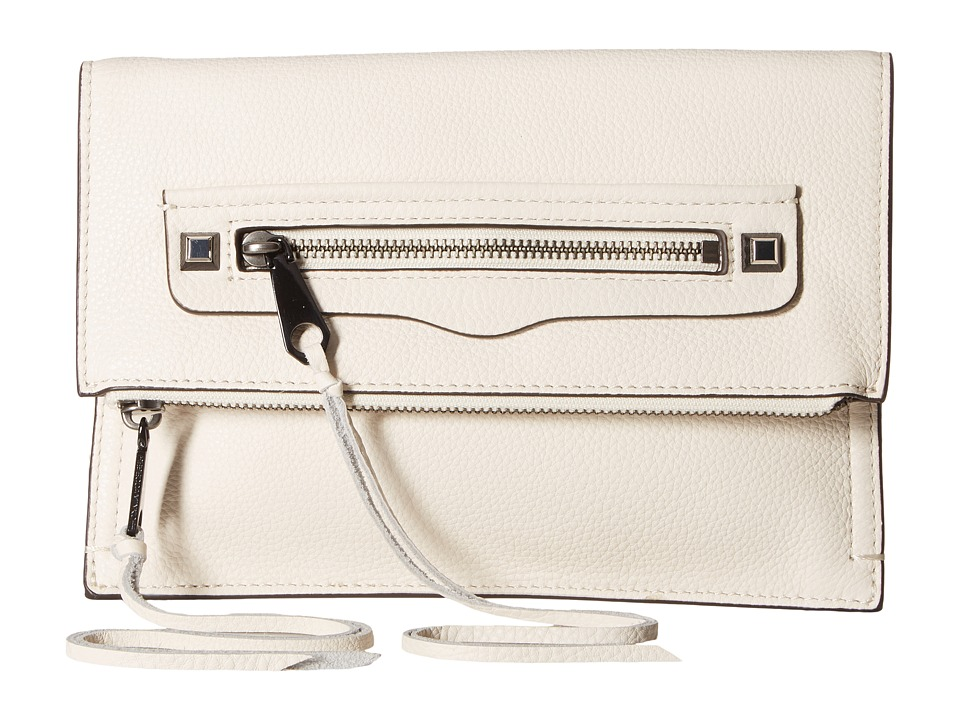 Rebecca Minkoff Small Regan Clutch (Antique White) Clutch Handbags