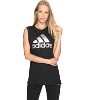 adidas - Badge Of Sport Aqua Pearl Muscle Tank Top