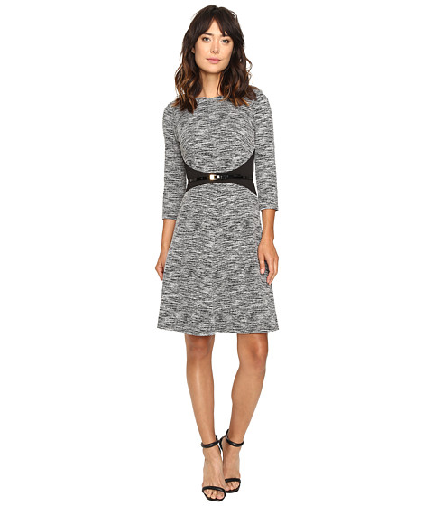 Calvin Klein 3/4 Sleeve Fit and Flare Dress CD6K1410