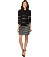 Calvin Klein - 3/4 Sleeve Stripe Shift Dress CD6C1589
