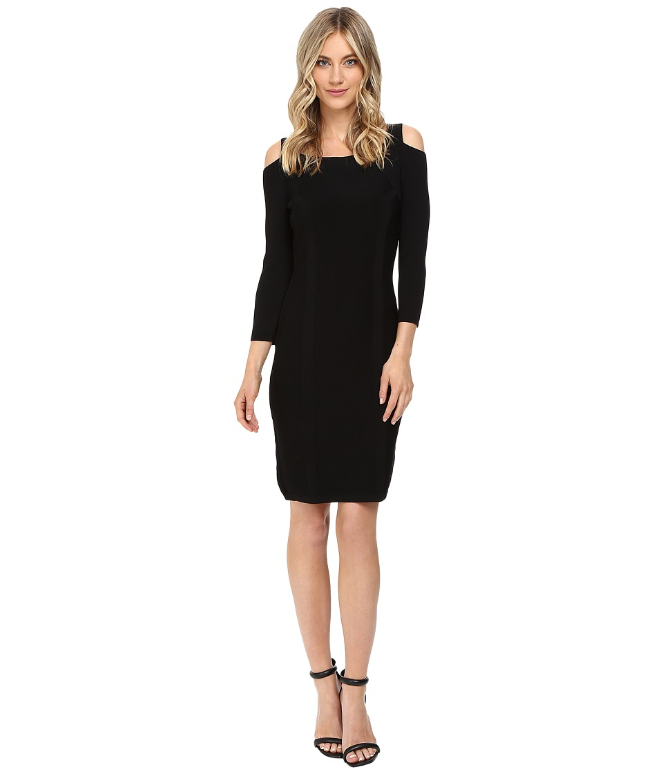 Calvin Klein Cold Shoulder Sweater Dress CD6W1F9X (Black) Women