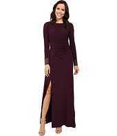 Calvin Klein - Front Ruched Gown with Beading on Cuff CD6B1694