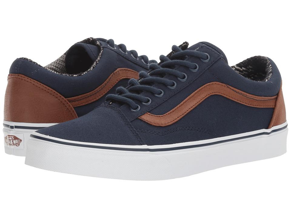 Vans - Old Skool ((C&L) Dress Blues/Material Mix) Skate Shoes