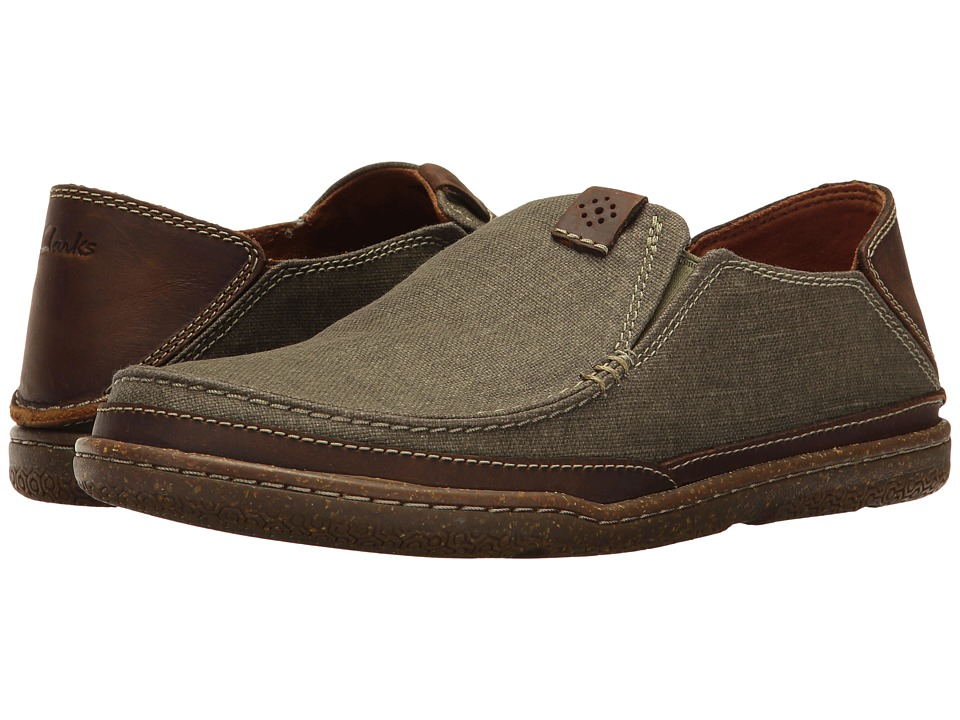 Clarks Trapell Form (Olive Canvas) Men