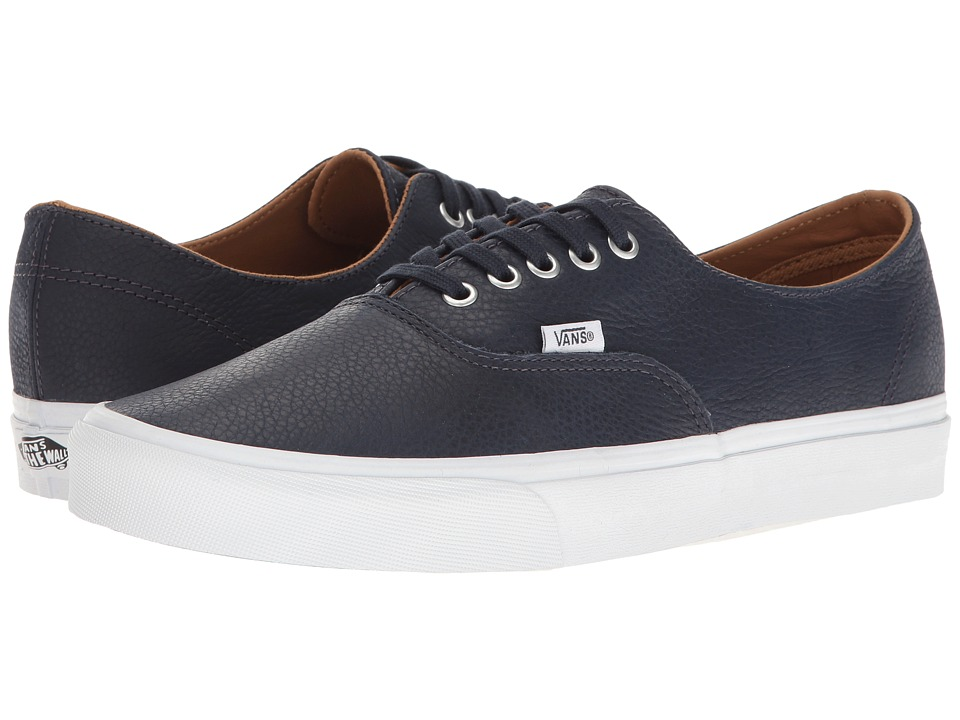 Vans - Authentic Decon ((Premium Leather) Parisian Night/True White) Skate Shoes