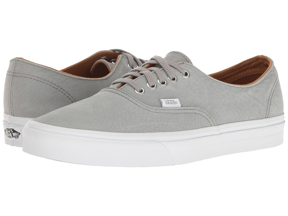 Vans Authentic Decon ((Premium Leather) Wild Dove/True White) Skate Shoes