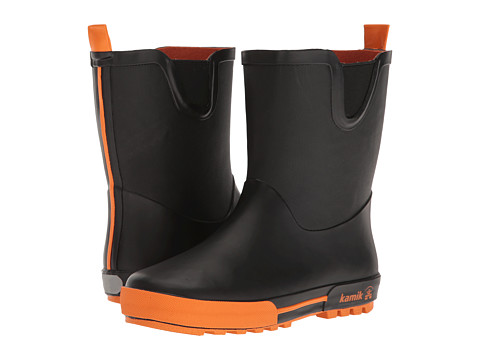 Kamik Kids Rainplay (Little Kid) - Black/Orange