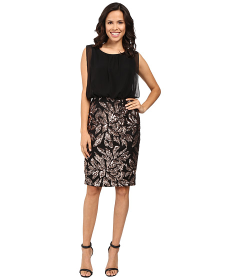 Calvin Klein Sequin Skirt Dress CD6B5V3Y - 6pm.com