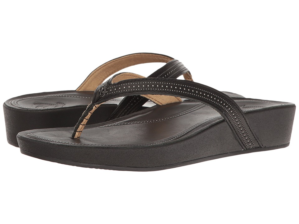 OluKai - Ola (Black/Black) Women's Sandals
