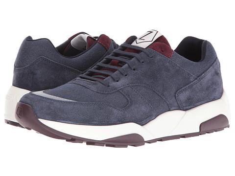 Z Zegna Techmerino Racer 2.0 Sneaker - Dark Blue/Burgundy