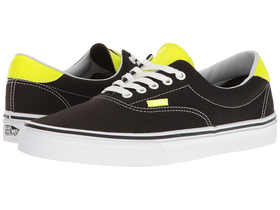 Vans Era 59 ((Neon Leather) Black/Neon Yellow) Skate Shoes