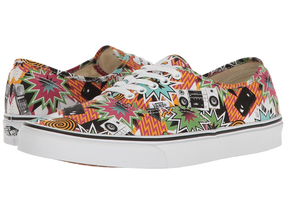 Vans Authentictm ((Freshness) Mixed Tape/True White) Skate Shoes