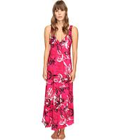 Oscar de la Renta - Printed Poly Crepe Long Gown