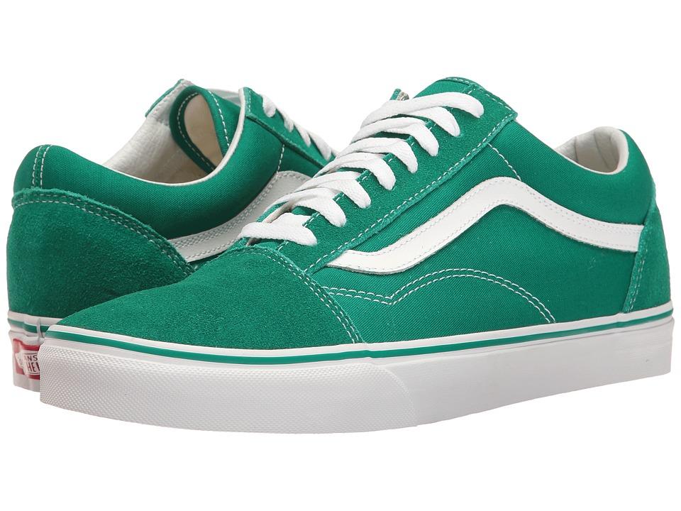 Vans - Old Skool ((Suede/Canvas) Ultramarine Green/True White) Skate Shoes