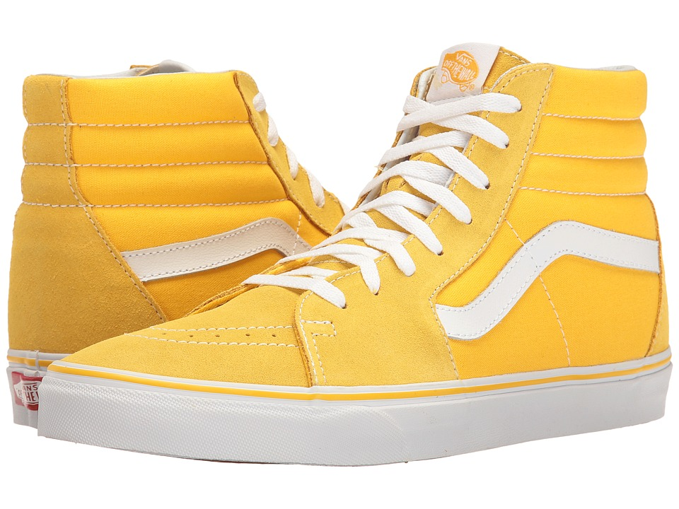 Vans - SK8-Hi ((Suede/Canvas) Spectra Yellow/True White) Skate Shoes