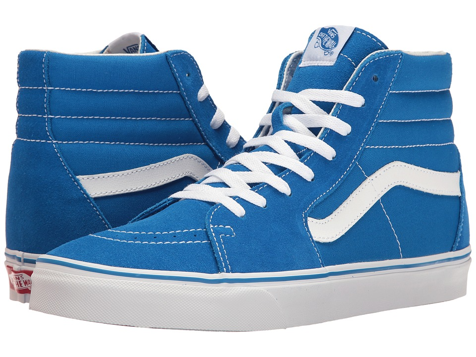 Vans - SK8-Hi ((Suede/Canvas) Imperial Blue/True White) Skate Shoes
