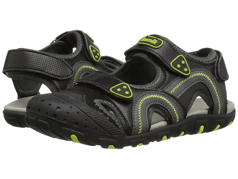 Kamik Kids Seaturtle (Toddler/Little Kid/Big Kid) (Black/Lime) Boy's Shoes