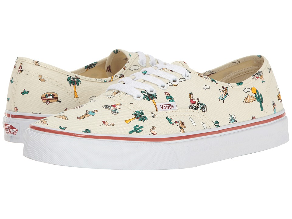 Vans Authentictm ((Party Train) The Desert/White) Skate Shoes