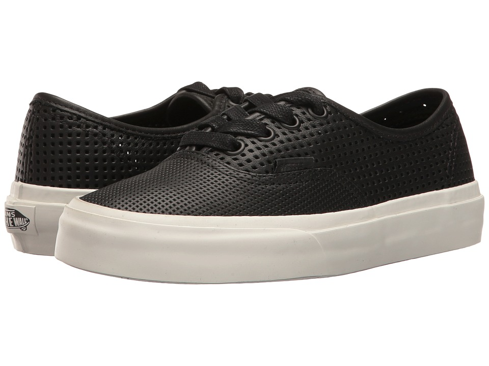 Vans Authentic DX ((Square Perf) Black) Skate Shoes