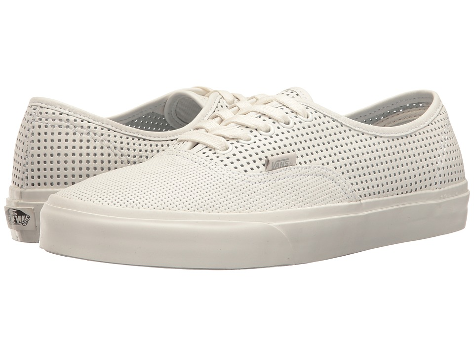 Vans Authentic DX ((Square Perf) Blanc De Blanc) Skate Shoes