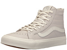 SK8-Hi Slim Zip ((Leather) Wind Chime/Blanc De Blanc) Skate Shoes