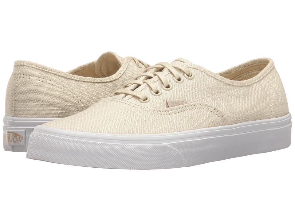 Vans Authentictm ((Hemp Linen) Turtledove/True White) Skate Shoes