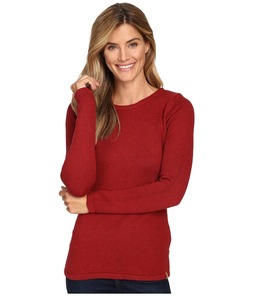 Fj llr ven Kiruna Knit Sweater (Ox Red) Women