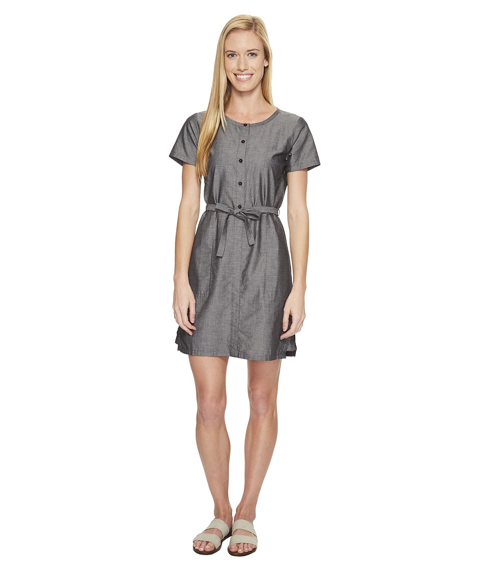 NAU Short Sleeve Twisted Dress (Caviar) Women