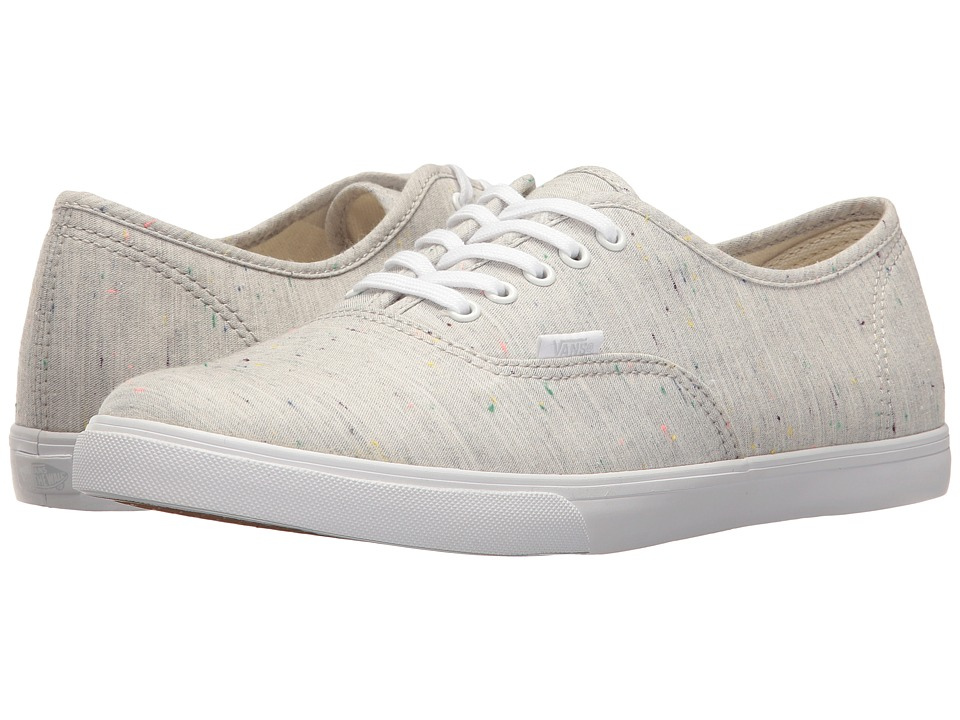 Vans Authentic Lo Pro ((Speckle Jersey) Gray/True White) Skate Shoes