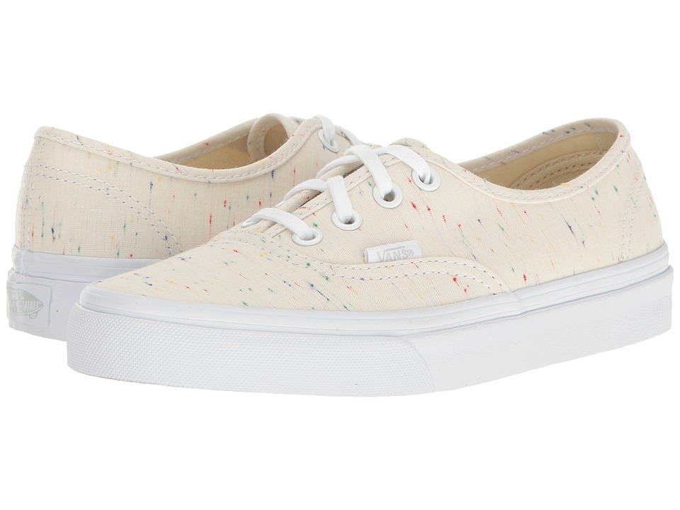 Vans - Authentic ((Speckle Jersey) Cream/True White) Skate Shoes