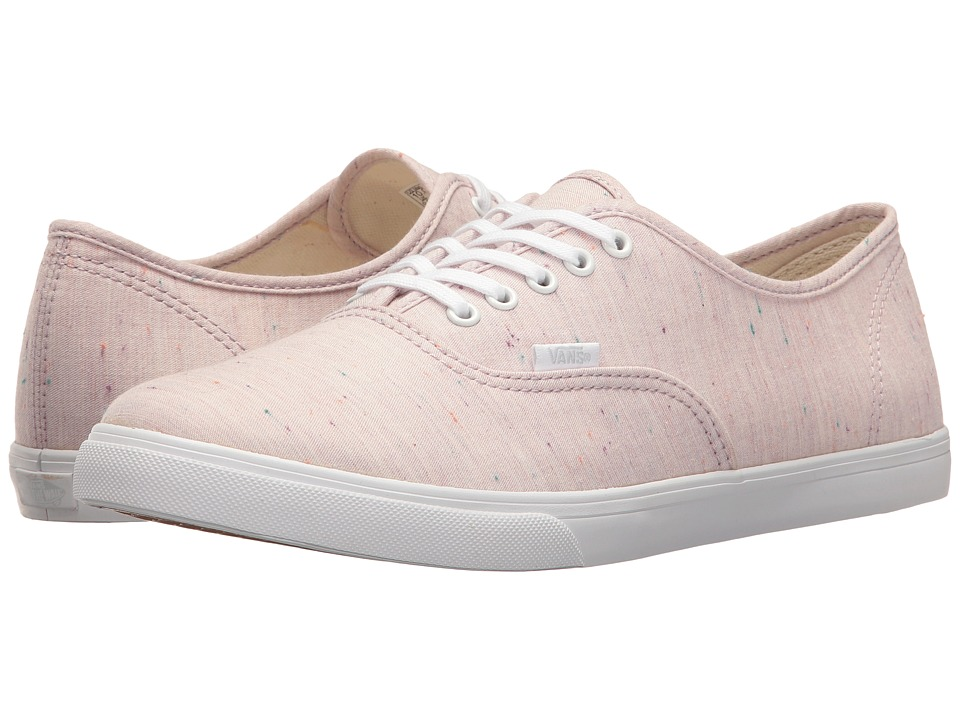 Vans Authentic Lo Pro ((Speckle Jersey) Pink/True White) Skate Shoes