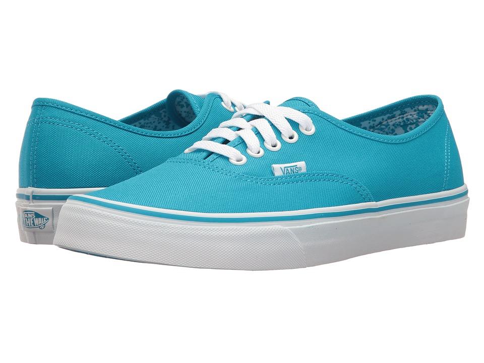 Vans Authentictm ((Neon Splatter) Neon Blue/True White) Skate Shoes