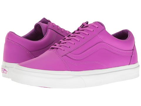 Vans Old Skool™ - (Neon Leather) Neon Purple/True White