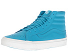 SK8-Hi Slim ((Neon Leather) Neon Blue/True White) Skate Shoes