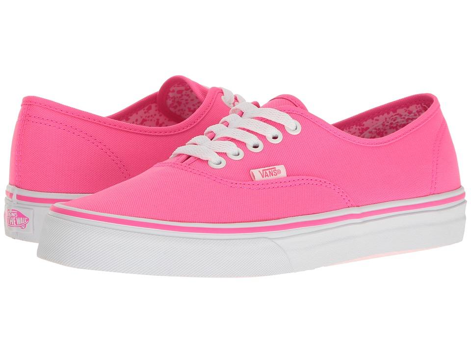 Vans Authentictm ((Neon Splatter) Neon Pink/True White) S...
