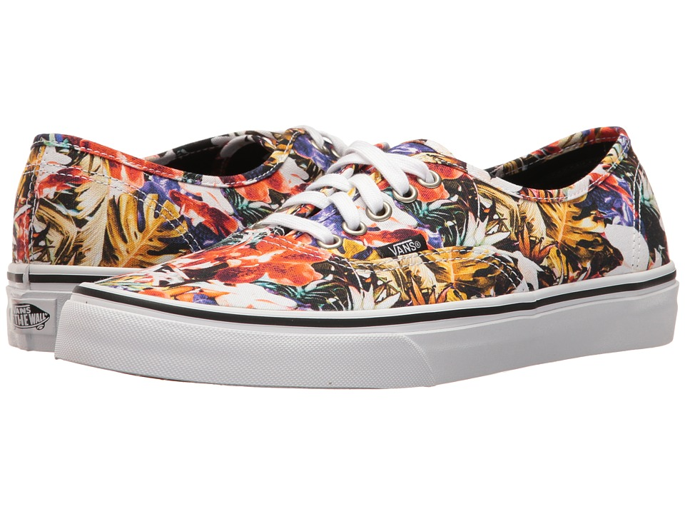 Vans Authentictm ((Cuban Floral) Black/True White) Skate ...