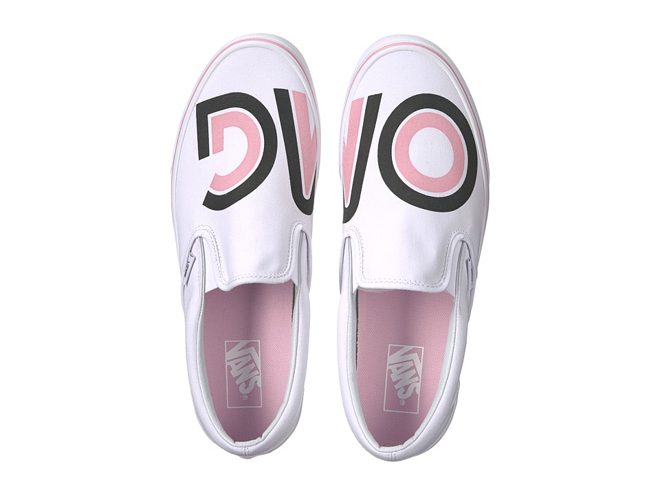 Vans Classic Slip-On ((Sayings) True White) Skate Shoes