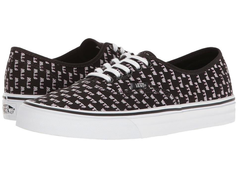 Vans Authentictm ((Sayings) Black) Skate Shoes