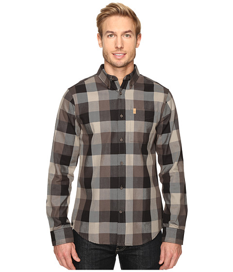Fjällräven Ovik Big Check Shirt L/S - Black