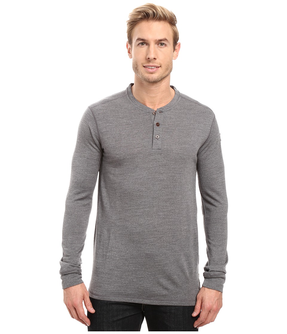 Fj llr ven Lappland Merino Henley Long Sleeve (Grey) Men