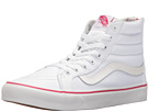 SK8-Hi Slim Zip ((Valentines) True White/Beet Purple) Skate Shoes