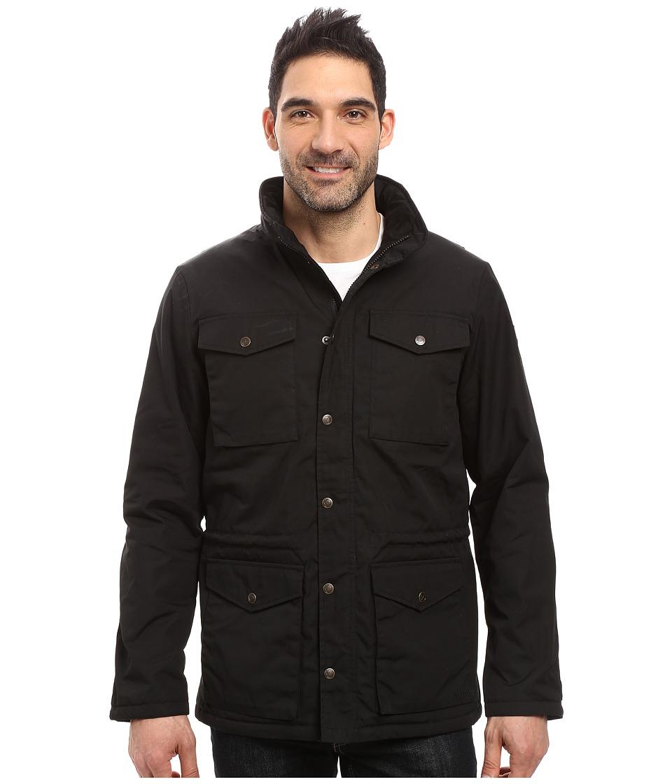 Fjäll Räven Raven Winter Jacket (Black) Men's Coat