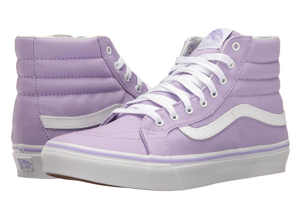 Vans - SK8-Hi Slim (Lavender/True White) Skate Shoes