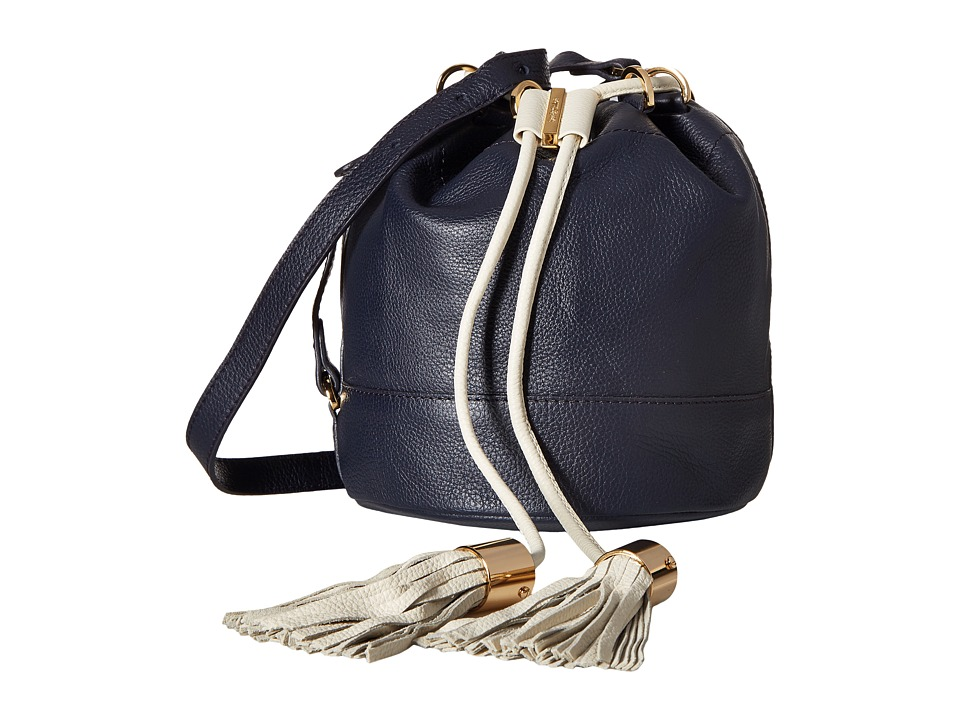 See by Chloe - Vicky Small Bucket Bag w\/ Crossbody Strap (Midnight) Cross Body Handbags